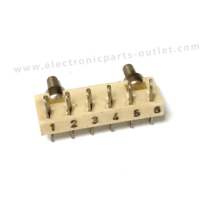 Ceramic wiring strip 6P