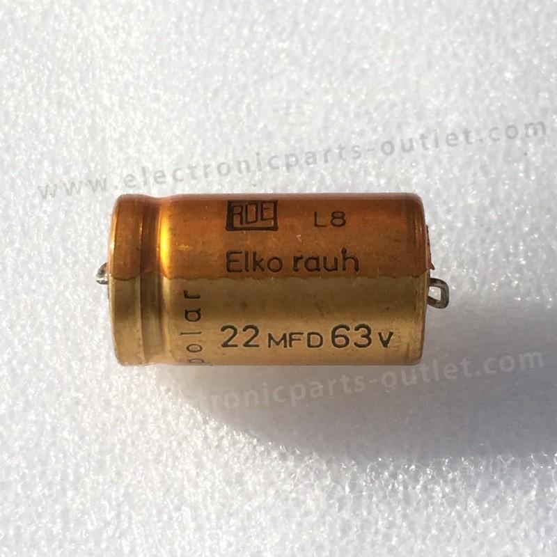 Bipolair 22uF / 63V