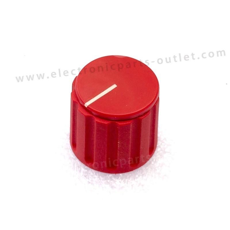 Knob red Ø 21mm   shaft 4mm. with...