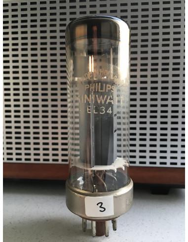 Philips EL34 Nickelbase tube (113%) 1956