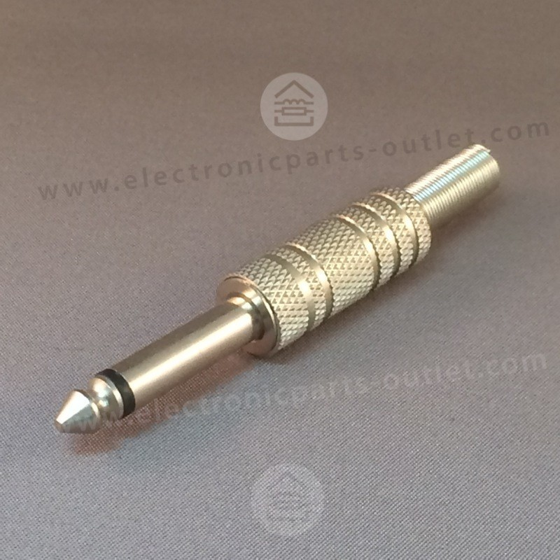 Jack 6,3mm mono plug male