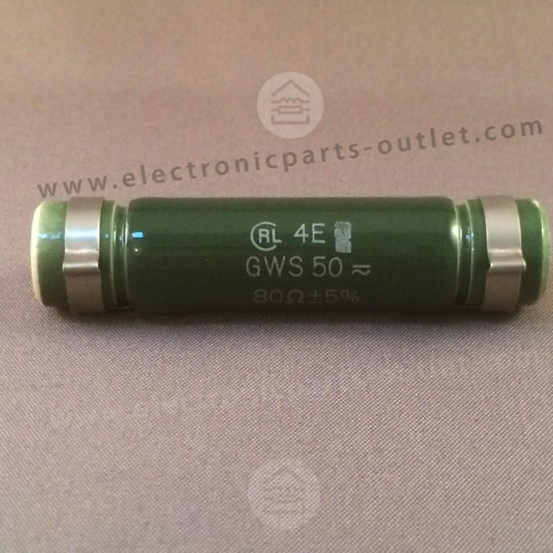 80Ω – 5% – 20W  GWS50