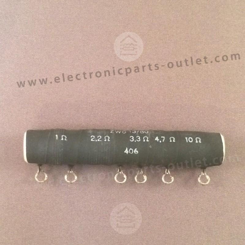 Multistage resistor  1Ω, 2Ω2, 3Ω3,...
