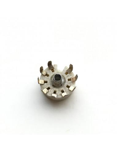 4 x Noval ( 9 pin ) ceramic tube...