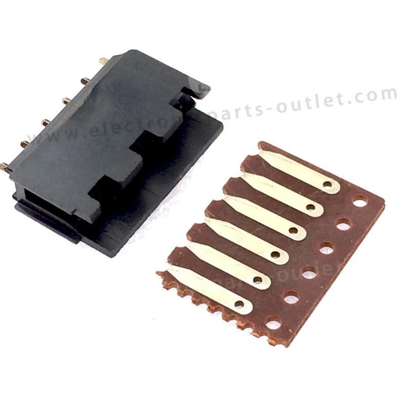 Print connector 6p   5mm, 6p F + M (pcb)