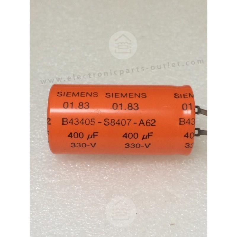 400uF-330V  (Flash capacitor)