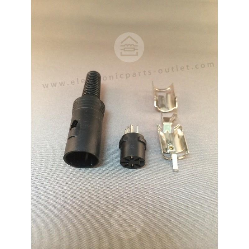 7pin DIN 270° plug female