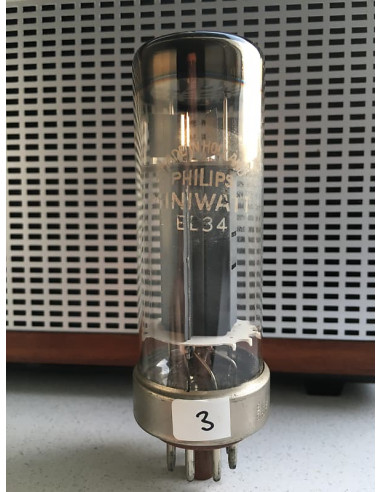 Philips EL34 Nickelbase tube (113%) 1956