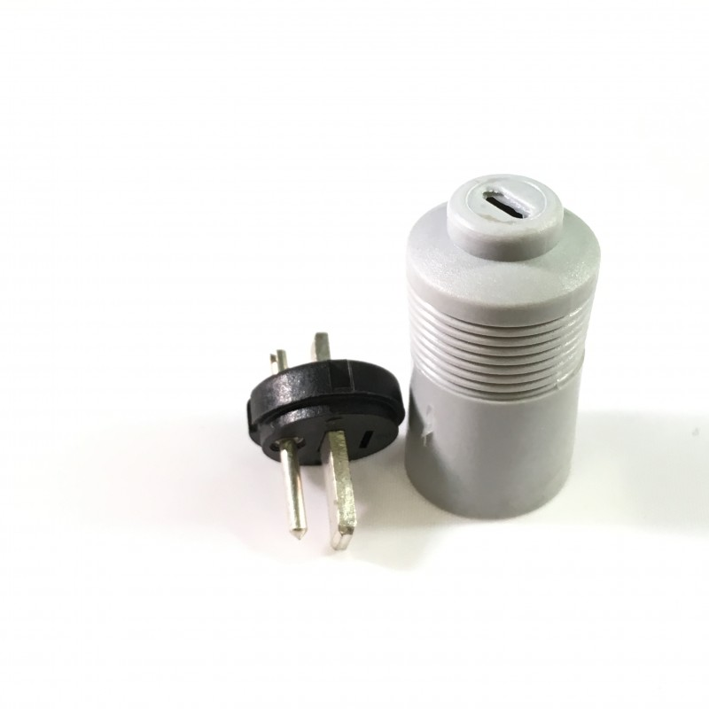 2 pins loudspeaker plug male