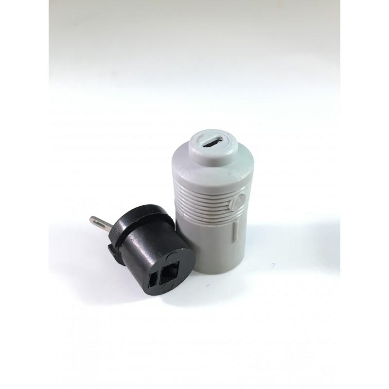 2 pins loudspeaker plug female