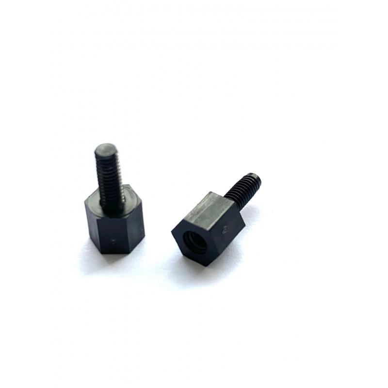 Afstandbus Nylon zwart 6x6 M3 Skiffy