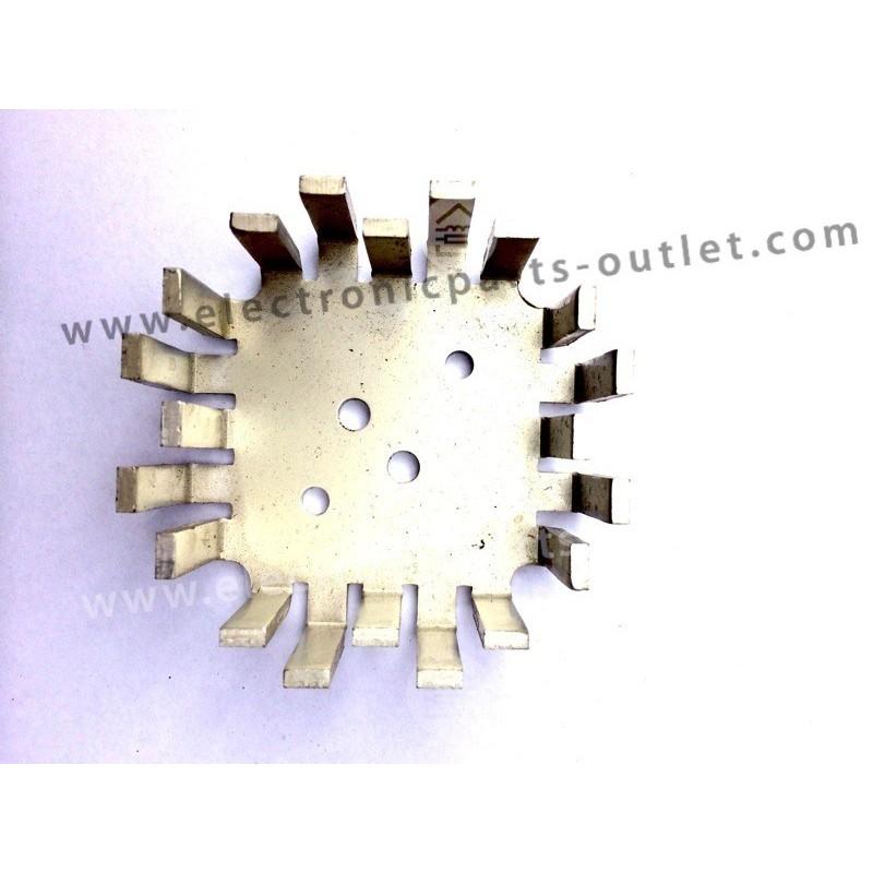 Heatsink finger TO-3  65x65x23mm