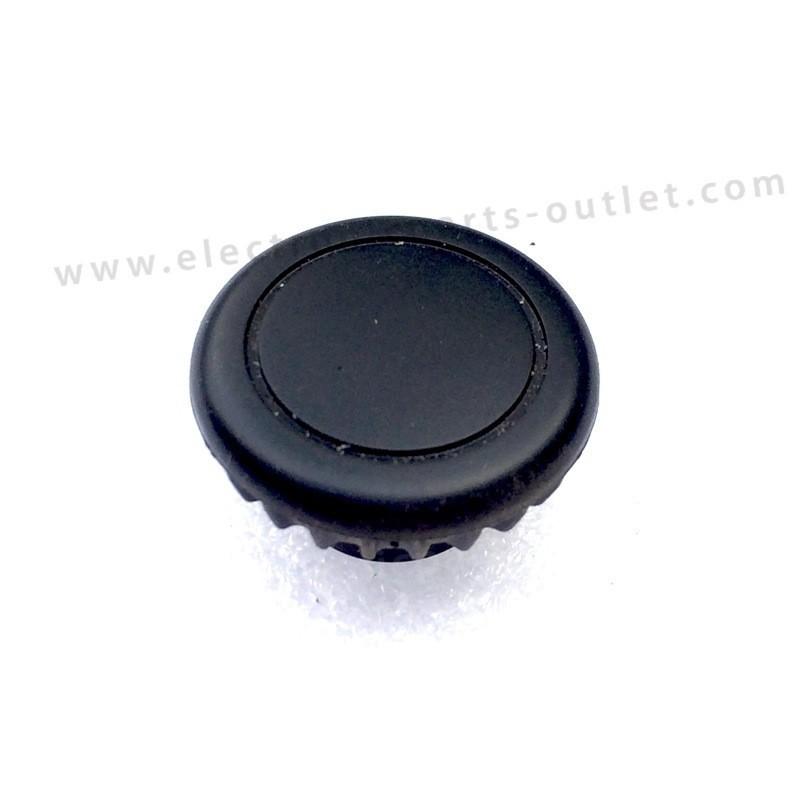 Knob black Ø28 (car)  rubber, shaft 6mm