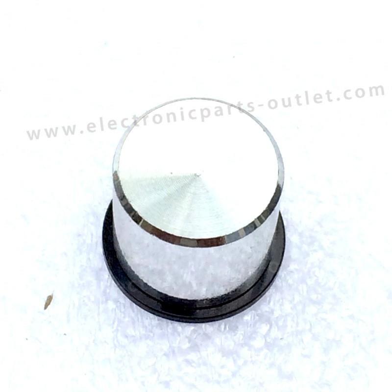 Knob zilver-black Ø  shaft 2mm
